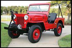 1954 Willys CJ-3b #Mecum #Dallas Old Jeep, Jeep Tj, Jeep Truck, Jeep Willys, Jeep Garage, Amc Javelin, Fuel Economy, Corvette, Dallas