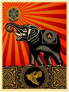 Obey 'Peace Elephant'