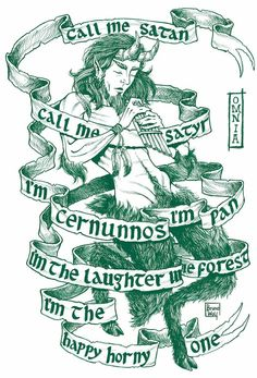 Artist: Bruno WolfText: Omnia - Call me Satan Pan Mythology, Pagan Gods, Pagan Men, Bozo, God Tattoos, Satanic Art, Eclectic Witch, Ex Libris, Green Man