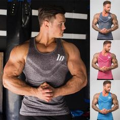 This breathable, quick-drying fitness tank top is perfect fit and style for the Fitness Gadgets, Men's Fitness, Fitness Apparel, Mens Workout Tank Tops, Gym Tank Tops, Gym Outfit Men, Gym Accessories, Gym Wear For Women, Gym Clothes Women