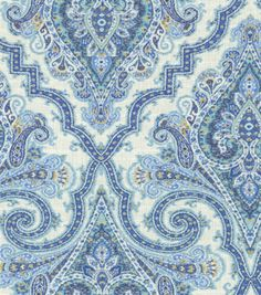 A traditional paisley home décor fabric  with elegant color combination. Content: 100% Cotton Width: 54 Inches Fabric Type: Print Upholstery Grade: Medium Upholstery Horizontal Repeat: 13.5 Inches Ver