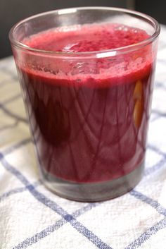 Liver Cleanse Juice |   ingredients:  1 organic cucumber  1 inch nub of ginger  3 leaves large bok choi  3 mini red beets  1 apple  2 carrots  1 meyer lemon