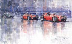 Ferrari D50 Monaco GP 1956  by Yuriy Shevchuk