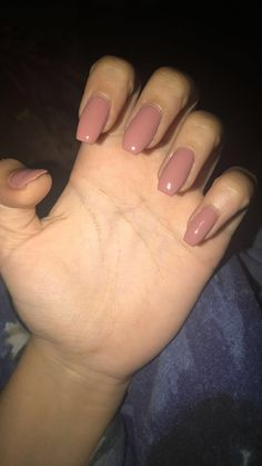 Acrylics Coffin Nails Pink Dusty Rose