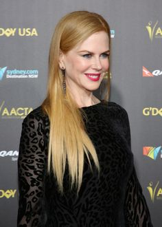 Nicole Kidman's light copper hair at the 2015 G'Day USA Gala. http://beautyeditor.ca/2015/03/06/hair-colour-for-your-skin-tone