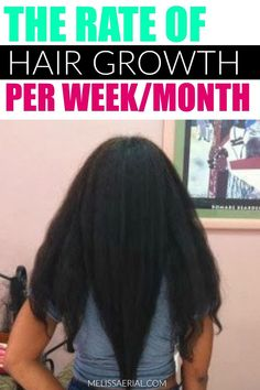 The rate of hair growth per week/month and how to keep track of your hair growth journey. #hairgrowth Growing Long Hair Faster, Longer Hair Faster, How To Grow Your Hair Faster, Grow Long Hair, Natural Hair Growth Tips, Natural Hair Types, Hair Growth Cycle, Hair Porosity, Track