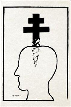 Poster/Affiche. Mai 68 Reproduction restaurée. Croix de Lorraine / Vis. Neuf