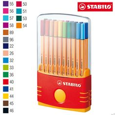 Fineliner - STABILO point 88 Colorparade of 20 Assorted Colours Stabilo Point, Stabilo Boss, Stationary Store, Stationary School, Cool Stationary, Stationary Supplies, Cool School Supplies, Office Supplies, Ideas