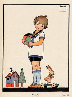 Italian children's book illustration by Enrico Mauro Pinochi (1929)