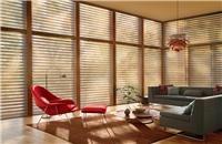 Cortinas Silhouette® - Combinación de telas suspendidas entre dos velos traslúcidos [living room blinds curtains windows covering treatment decoración ventanas salón sala]