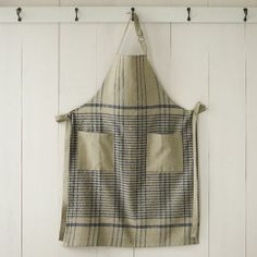 Cotton Apron - Grainery Plaid | west elm