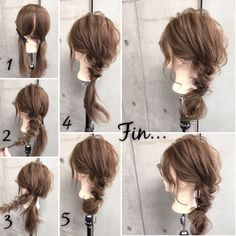 Long twists in the side Plaits Hairstyles, Bride Hairstyles, Easy Hairstyles, Bridal Hair And Makeup, Hair Makeup, Pentecostal Hairstyles, Hair Arrange, Corte Y Color, Heart Hair