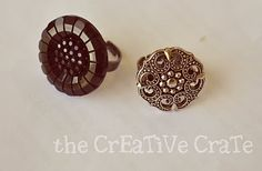 How to make Button Rings...LOVE this idea.
