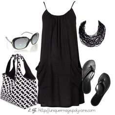 Little black beachy dress...not into dresses, but I want this for a lake cover up!!!