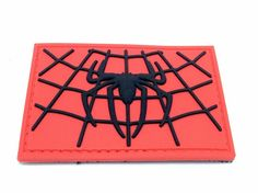 Spiders WEB Black RED PVC Airsoft Patch | eBay