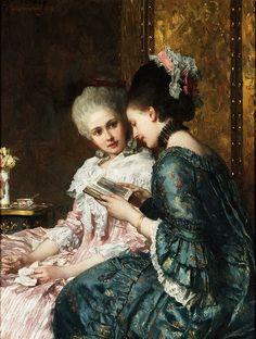 """""""A Shared Moment,"""" 1878 -- by Josef Scheurenberg (German, 1846--1914)"""