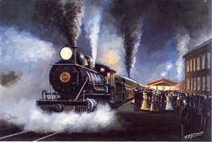 railroad art impressionist - Google Search