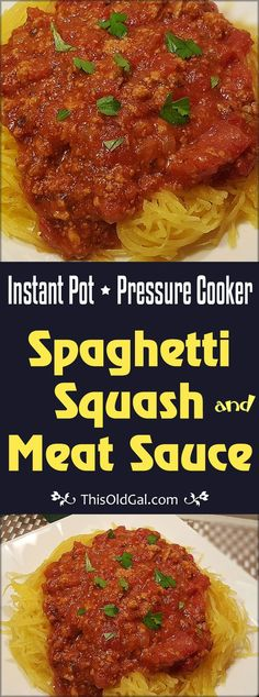 Instant Pot Spaghetti Squash and Meat Sauce IMage