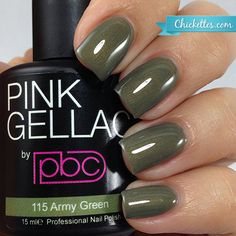 #115 Pink Gellac Army Green