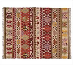 this will probs be in my living room by next week-- Kalista Kilim Rug at pottery barn