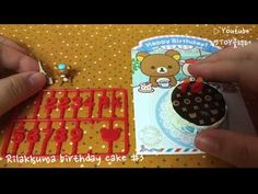 [Re-ment] SAN-X) Rilakkuma birthday cake #3 - YouTube Rement, Rilakkuma, Playing Cards, Birthday Cake, San, Youtube, Collection, Playing Card Games, Birthday Cakes