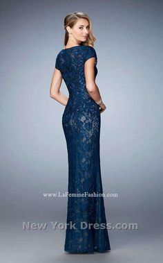 0c9ddf190df91 La Femme 23071 Column Dress, Prom Dresses, Formal Dresses, Lace Overlay,  Formal