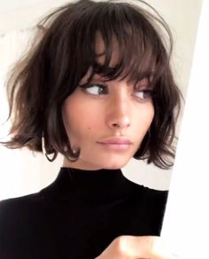 Bob hairstyles are just as on trend as ever, so if you're yet to try one, why not make 2018 your year? From trendy French girl-inspired styles to layered, graduated bobs, see the array of different bob haircut options available here. Ready to join the sho Thin Hair Short Haircuts, Short Hair Cuts, Layered Haircuts, Curly Haircuts, Short Bob Bangs, Short Bob With Fringe, Layered Bob With Bangs, Bob Haircut Bangs, Girls With Short Hair