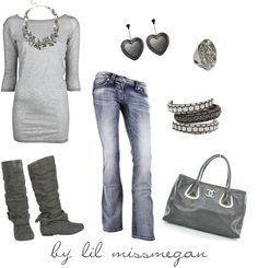 """""""50 shades of grey"""" by lilmissmegan on Polyvore"""