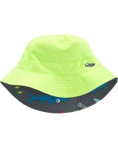 5fbbbaf3933 Reversible Shark Bucket Hat