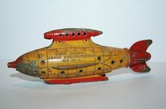 Vintage 1937 Tootsie Toy Buck Rogers Venus Duo Destroyer MK 24 L Tin Toy