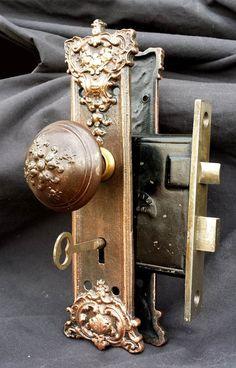 8 avail antique deco nickel brass interior door lockset set knob