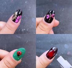 Nail Art Designs Videos, Pink Nail Designs, Nail Art Videos, Simple Nail Art Designs, Best Nail Art Designs, Diy Acrylic Nails, Toe Nail Art, Gel Nails, Nail Nail