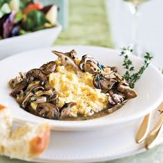 Ragoût of Mushrooms With Creamy Polenta | You can substitute your favorite red wine in this dish if you don't have port.