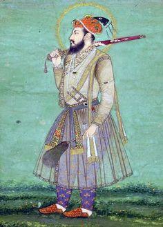 Mughal Miniature Paintings, Mughal Paintings, Indian Paintings, Vintage Paintings, Mughal Architecture, Art And Architecture, Persian Pattern, Mughal Empire, India Art