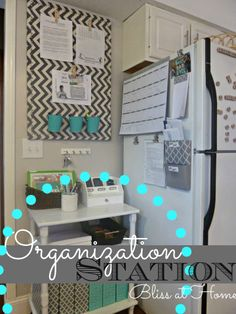 Organization Station - next to our fridge?