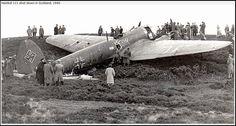 Heinkel 111 shot down in Scotland 1940.