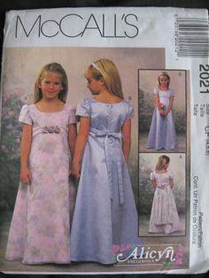 McCalls Alicyn 2021 Pattern Girls Flower Girl Wedding by Vntgfindz, $5.00  on etsy