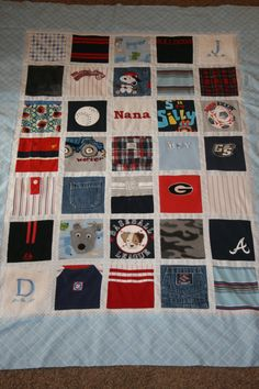 Quilt I want to make with outgrown baby clothes of ours.