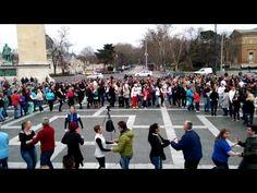 Heroes' Square, Budapest, Hungary International Rueda de Casino Multi Flash Mob Day 2015.03.28 www.salsatropical.hu