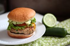 Jalapeno Turkey Burgers with Cheddar & Guacamole. We increase the salt and pepper to 3/4 t. and sometimes add a tsp of Worcestershire!
