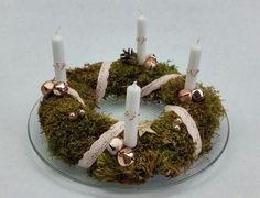 """Weihnachten - Adventskranz inkl. Reliefteller """"Roségold"""" - ein Designerstück von My-Sweet-Bambiente bei DaWanda"""