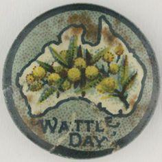 Badge - 'Wattle Day', Australia, 1914-1918 - Museum Victoria