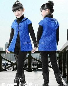 Knitted vest for teenage girl Baby Boy Knitting Patterns Free, Knitting For Kids, Baby Knitting, Crochet Girls, Crochet For Kids, Knit Crochet, Baby Sweaters, Girls Sweaters, Embroidery Suits Punjabi