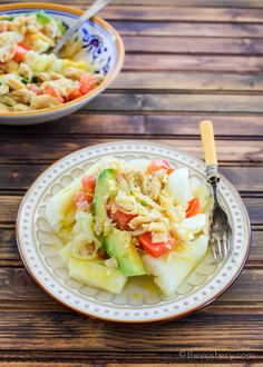 Ensalada de Bacalao recipe | One of my favorite easy make ahead meals. Served chilled or room temperature it's the perfect recipe for the summer.
