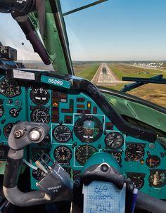 On short final in Tu-134