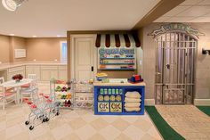 wow... really over the top playroom but fun!