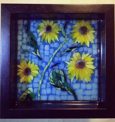 Small Driveway Sunflowers, courtesy of Kickin' Glass Kansas.