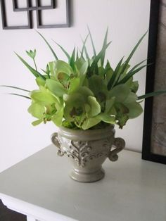 15 Silk Real Touch Green Nobile Dendrobium by FineOrchidCreations