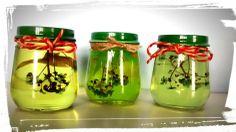 Ostergeschenk mit alten Schraubgläsern / Easter present using old screw-top jars / Upcycling