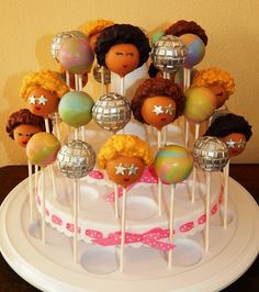 70s Disco Party Cake Pops